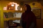 Raziye Bagci tours a basement prayer room before iftar. Berlin, Thursday, June 9, 2016. Photo by Adam McCaw