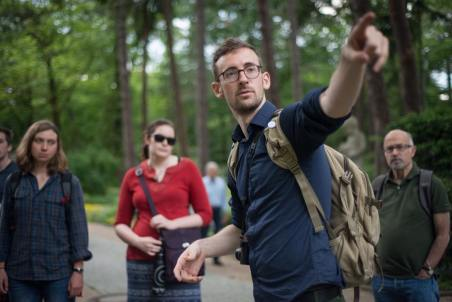 Our fearless leader, Shane McMillian, talks to the group on a tour.