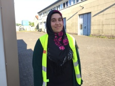 """""""I was born here. I am 21 years old, and in the 21 years that I have been here, I still don't know the area. I don't really feel at home. I think when you feel good, you must live there. And I feel good in Turkey."""" — Raziye Bagci is a student and works for the volunteer organization Hasene. 