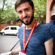 """""""I'm still waiting to see if my application is accepted. I don't want to do nothing while I'm waiting. So I come to Moabit Hilft as a volunteer to help people who come here with my language abilities. I speak Albanian, Turkish, and Macedonian."""" — Bequir is from Macedonia and helps at Moabit Hilft, an organization that provides food, water, clothing and basic amenities to refugees as they wait for their asylum process to move forward. 